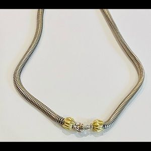Lagos Snake Choker 925 Silver with 18K Gold